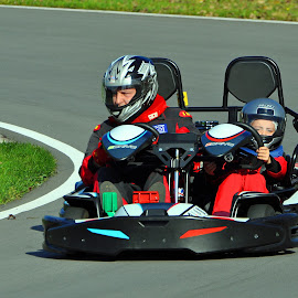 Karting Lesson by Marco Bertamé - Sports & Fitness Motorsports ( karting, kart, combo, son, racing track, two seater, father )
