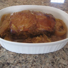 Slow Cooker (Crock Pot) Pork Loin Roast & Kraut