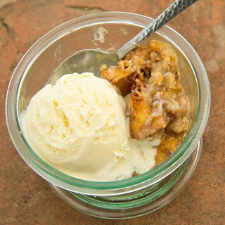 Hill Country Peach Crisp with Orange-Pecan Topping