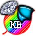 KB SKIN -RainbowDiamondStripes icon