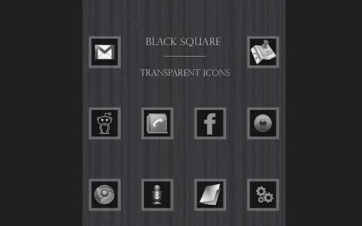 Black Square Transparent Icons