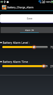 Set Time Battery Charge TTS - screenshot