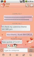 Screenshot of My Valentine GO SMS Theme