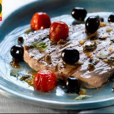 Grilled Tuna With Roast Tomatoes