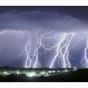 Yanchep Lightning by West Aus Storms . - Landscapes Weather ( yanchep lightning, australia, weather, thor, storm )