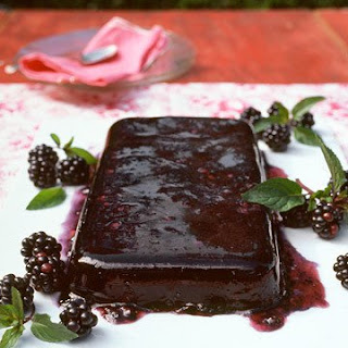 Blackberry-Red Wine Gelatin