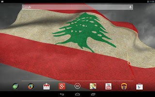 Screenshot of 3D Lebanon Flag Live Wallpaper