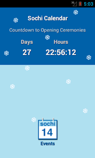 Sochi 2014 Calendar - screenshot