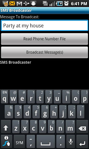 SMS Broadcaster