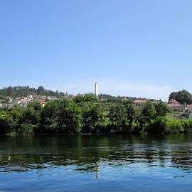 Rio Tamega by Lia Ribeiro - Digital Art Places