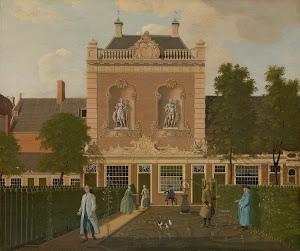 RIJKS: Hendrik Keun: The Garden and Coach House of 524 Keizersgracht in Amsterdam 1772