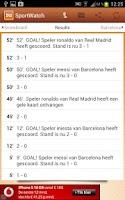 Screenshot of SportWatch