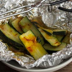 Cumin and Saffron Grilled Zucchini