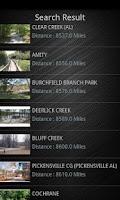 Screenshot of Campground Finder