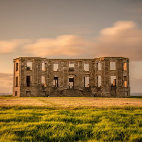 Downhill House by Ryszard Lomnicki - Landscapes Sunsets & Sunrises ( downhill house,  )