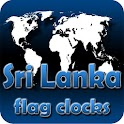 Sri Lanka flag clocks icon