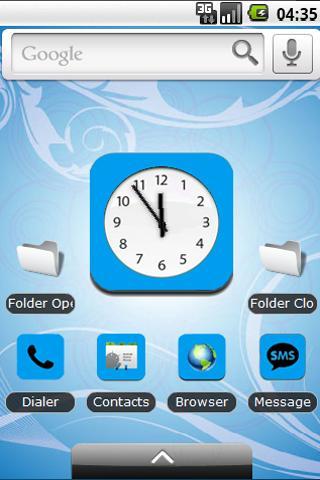 Baby Blue Theme iPad iPhone