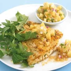Moroccan Grilled Fish With Pineapple Salsa