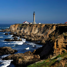 Point Arena Lighthouse by Dub Scroggin - Buildings & Architecture Other Exteriors ( point arena, lighthouse, pacific coast highway, california coast, pacifice coast )