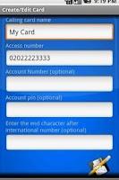 Screenshot of Simple Calling Card Dialer