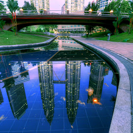 KLCC . MY Reflection  by Saadkuidam Khan - City,  Street & Park  City Parks