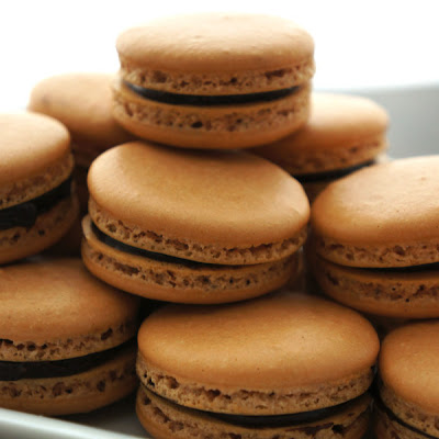 Chocolate Hazelnut Macarons