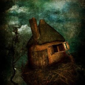 by Tina Bell Vance - Illustration Sci Fi & Fantasy ( folktale, fantasy, russian, illustration, house, baba yaga )