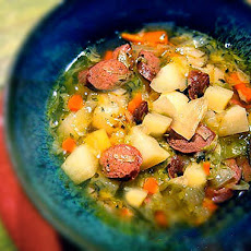 Irish Potato & Cabbage Soup with Soda Bread