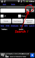 Screenshot of Search on Android for Twitter