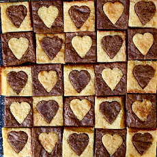 White and Dark Heart Brownies