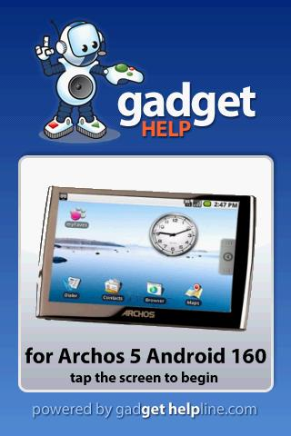 Archos 5 Android- Gadget Help