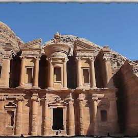 Petra, al Deir by Francesca Riggio - Buildings & Architecture Statues & Monuments ( jordan, monument, architecture, landscape, petra )