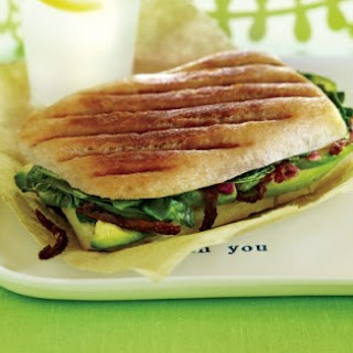 Avocado-Spinach Panini