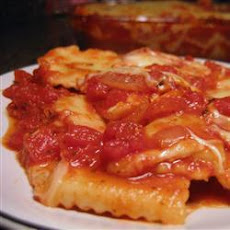 Cheese Ravioli in Tomato Sauce