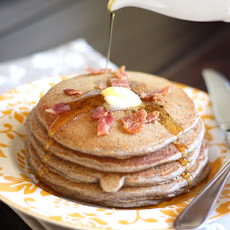 Almond Buckwheat and Bacon Pancakes