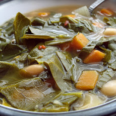 Collard Green, Squash, Fennel and Turnip Soup