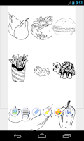 Screenshot of coloring pages