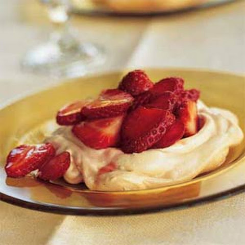 Chocolate Chip Meringues with Strawberries