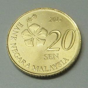 Malaysia 3rd series 20 sen obverse