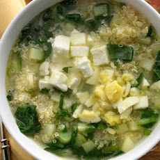 Quinoa Chowder with Spinach, Feta, and Scallions Recipe