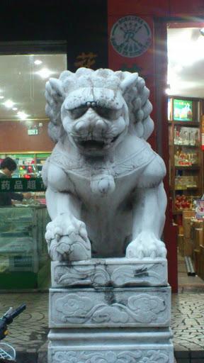 金馆长上身石狮