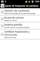 Screenshot of Word Search Spanish