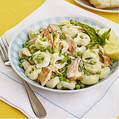 Tortellini Salad with Salmon and Peas