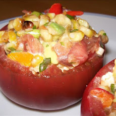 Stuffed Tomatoes With Grilled Corn Salad