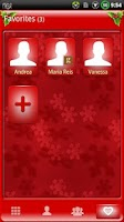 Screenshot of GOContacts theme CHRISTMAS