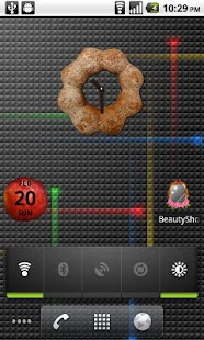 Donut Clock Widget Lite - screenshot