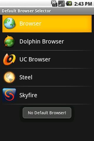 Default Browser Selector