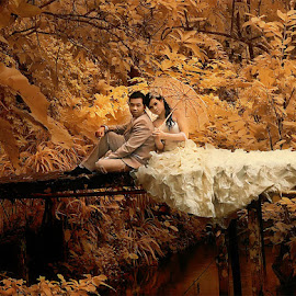 by Daniel Chang - Wedding Bride & Groom