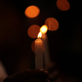 Light of Hope within Darkness of Distress. by Roland Rodriguez - Novices Only Macro