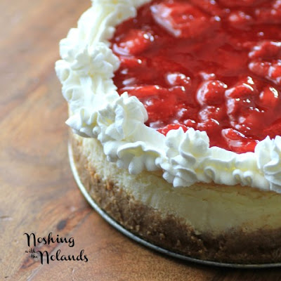 LIght and Airy Strawberry Cheesecake for #CanadaDay